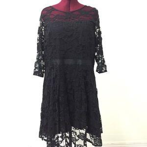 18 BB DAKOTA Black Lace Vintage Cocktail Dress